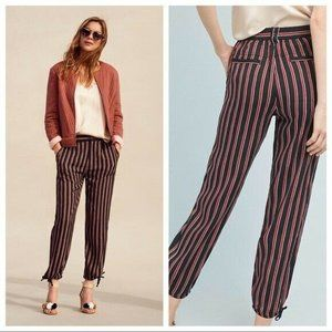 Anthropologie Vertical Striped Cropped Pants